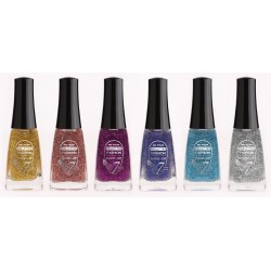 VERNIS A ONGLES PAILLETTES LOT DE 6 ARTICLES