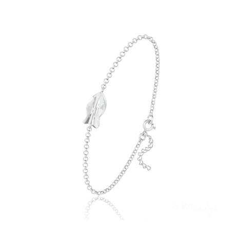 Bracelet Poisson en Argent et Cristal Blanc [Bracelet Meilys en Argent 925 et Cristaux Swarovski®]