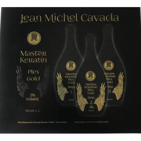 Lissage Brésilien Kératine Sans Formol -  à la Maison 3x150ml – Master Keratin plex gold Jean-Michel Cavada